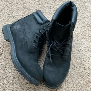 Black Timberland Boots 7 Women's
